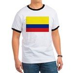 Colombia National Flag Ringer T