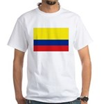 Colombia National Flag White T-Shirt