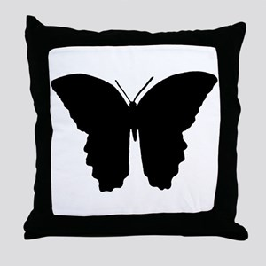 Butterfly Symbol Throw Pillow