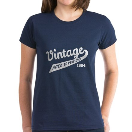 Customized Year Vintage Aged Womens T-Shirt