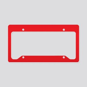 Scarlet Red Solid Color License Plate Holder