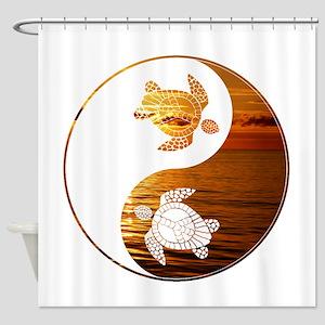 YN Turtle-02 Shower Curtain