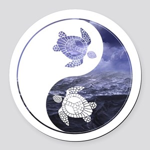 YN Turtle-01 Round Car Magnet