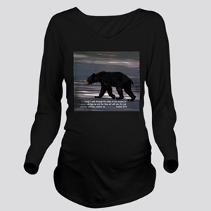 Shadow of Death Bear - Psalms 23:4 Long Sleeve Mat
