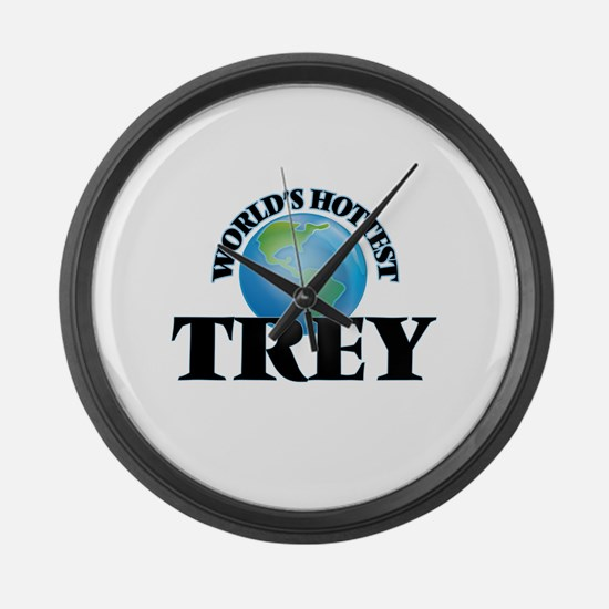 World's Hottest Trey Large Wall Clock