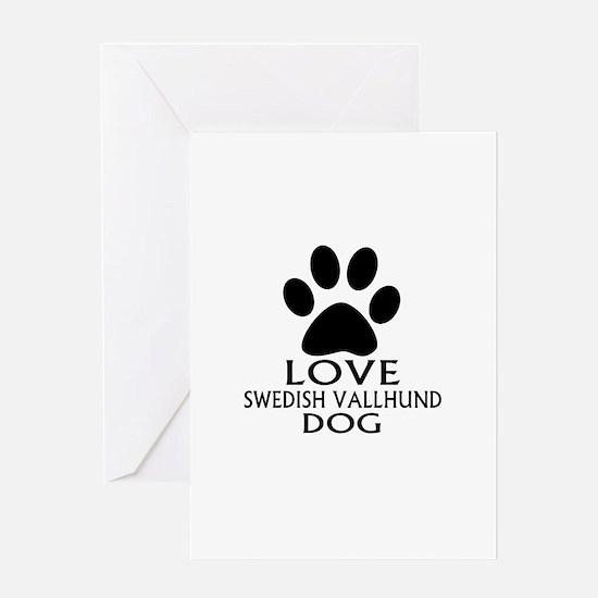 Love Swedish Vallhund Dog Greeting Card