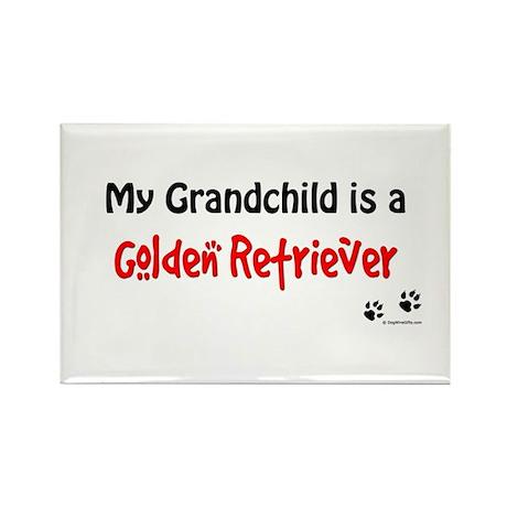 Golden Grandchild Rectangle Magnet