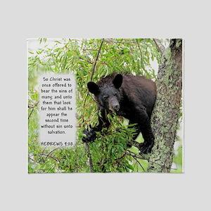 Bear The Sins - Hebrews 9:28 Throw Blanket