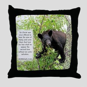 Bear The Sins - Hebrews 9:28 Throw Pillow