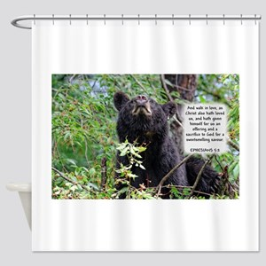 Mama Black Bear - Ephesians 5:2 Shower Curtain