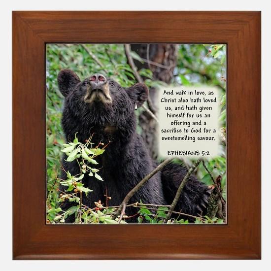 Mama Black Bear - Ephesians 5:2 Framed Tile