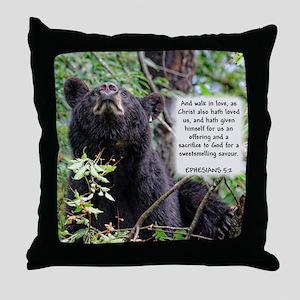 Mama Black Bear - Ephesians 5:2 Throw Pillow