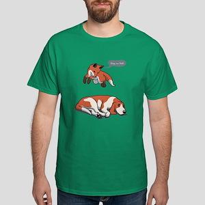 Quick Fox, Lazy Dog Dark T-Shirt