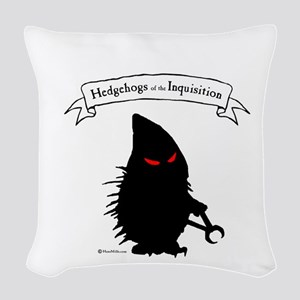 Hedgehogs of the Inquisition Woven Throw Pillow