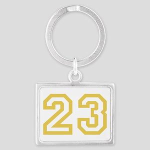 GOLD #23 Landscape Keychain