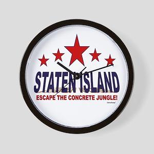 Staten Island Escape The Concrete Jungl Wall Clock