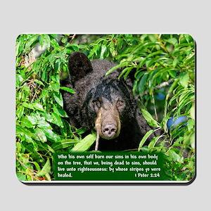 Black Bear - 1 Peter 2:24 Mousepad