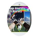 Change Adversity Ornament (Oval)