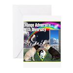 Change Adversity Greeting Cards