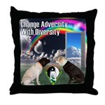 Change Adversity Throw Pillow