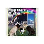 Change Adversity Throw Blanket