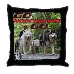 Go WooFDriver Go Throw Pillow