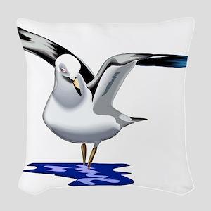 Seagull Liftoff Woven Throw Pillow