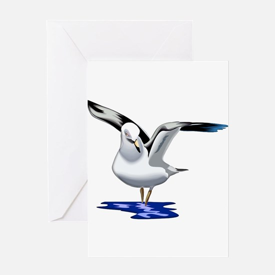 Seagull Liftoff Greeting Cards