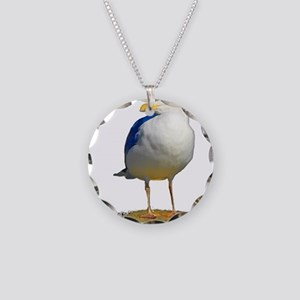 Sea Gull Has His Eye on You Necklace Circle Charm