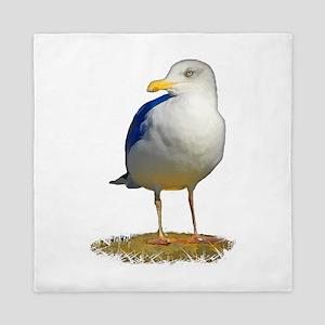 Sea Gull Has His Eye on You Queen Duvet