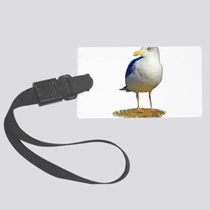 Sea Gull Has His Eye on You Large Luggage Tag