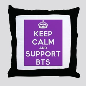 Support BTS Throw Pillow