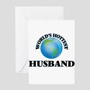 World's Hottest Husband Greeting Cards