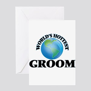 World's Hottest Groom Greeting Cards