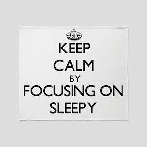 Keep Calm by focusing on Sleepy Throw Blanket