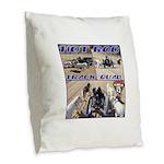 HotROD Quad Burlap Throw Pillow