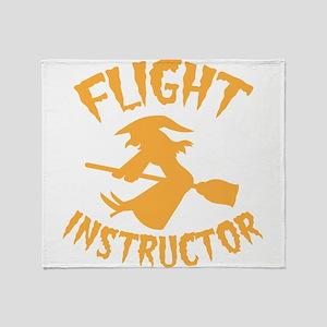 Halloween witch FLIGHT INSTRUCTOR Throw Blanket