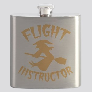 Halloween witch FLIGHT INSTRUCTOR Flask