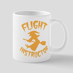 Halloween witch FLIGHT INSTRUCTOR Mugs
