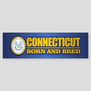 Connecticut (born and bred) Bumper Sticker