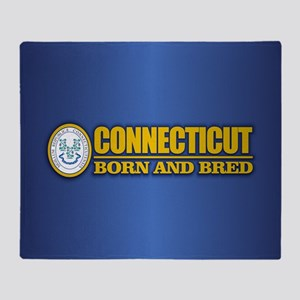 Connecticut (born and bred) Throw Blanket