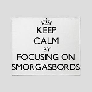 Keep Calm by focusing on Smorgasbord Throw Blanket