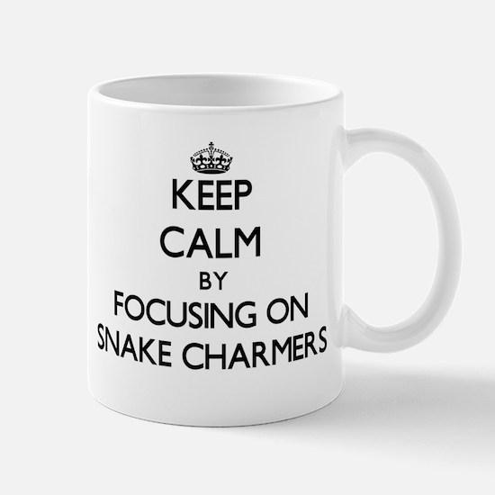 Keep Calm by focusing on Snake Charmers Mugs