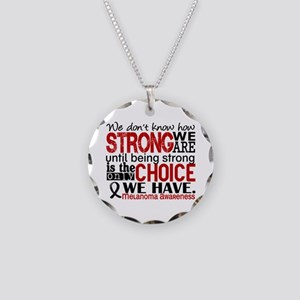Melanoma HowStrongWeAre Necklace Circle Charm