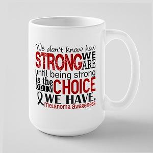 Melanoma HowStrongWeAre Large Mug