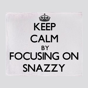 Keep Calm by focusing on Snazzy Throw Blanket