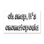 Oh Snap, It's Onomatopoeia Rectangle Car Magnet