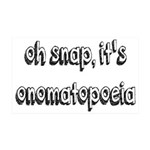 Oh Snap, It's Onomatopoeia 35x21 Wall Decal