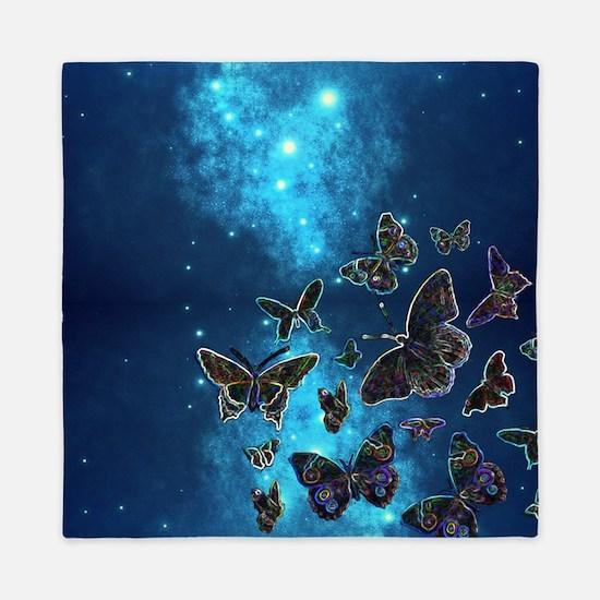 Cute Butterfly night Queen Duvet
