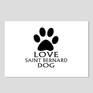 Love Saint Bernard Dog Postcards (Package of 8)